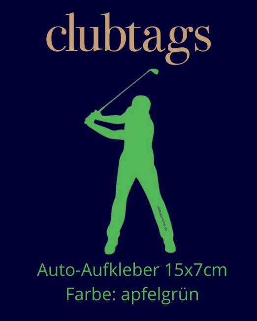 Autoaufkleber Golfer